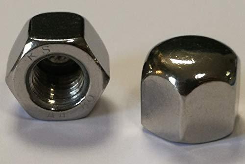 Edelstahl Hutmuttern - DIN 917 Material Edelstahl V4A (Edelstahl V4A, 50 x M6)