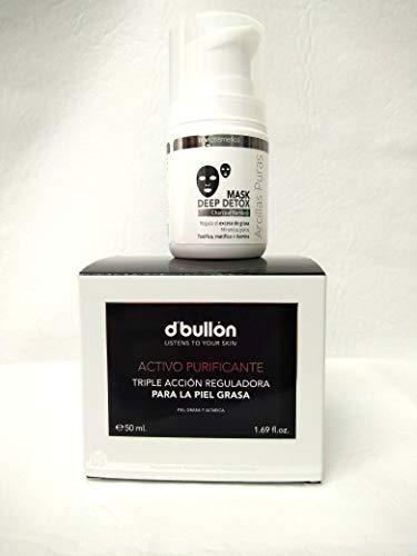 Crema reguladora y mascarilla detox para pieles grasas o con granitos