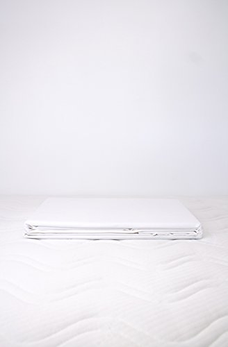Kadolis Housse de Couette Coton Bio uni + 2 taies d'oreiller Blanc 240 x 260 cm