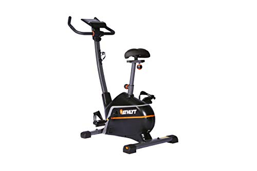 Athlyt - Bicicleta estática Premium, gris