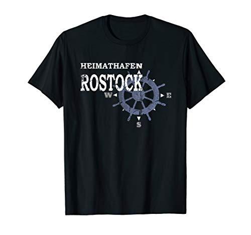 Heimathafen Rostock Moin Rostocker Küste Ostsee Geschenk T-Shirt