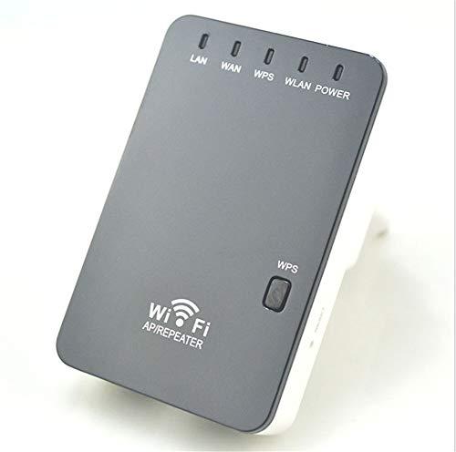 Repetidor de Red WiFi Extensor Amplificador Cobertura (300 Mbps, 2.4 GHz) Diseño Compacto Enchufe