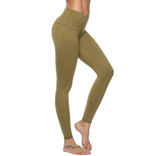 FEIVO Yoga Pants, Women's Power Flex Yoga Pants Tummy Control Workout Yoga Capris Pants Leggings,Mesh-black2,Small