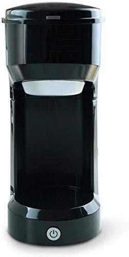 TEHWDE Professionele Amerikaanse Capsule Koffiemachine Thuis Kleine Thuis Kantoor Automatische Handmatige Koffiemolen 420ML Perfect Reizen Gemakkelijk mee te nemen, Zwart