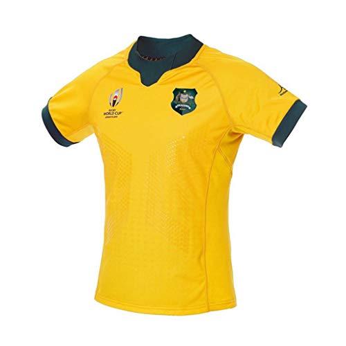 Camiseta De Manga Corta para La Copa Mundial Hombre De Rugby De Australia (Size : S)