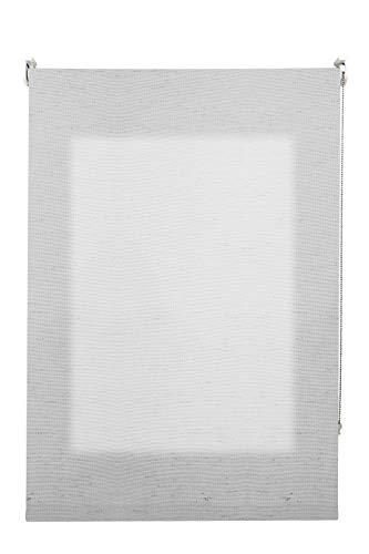 Decorestor Estor Translucido Lino Premium A Medida. Ancho de 40 a 300 cm. Lino Gris. Permite Gran Paso de luz, Guarda tu intimidad. Estores enrollables traslucidos para Ventanas y Puertas