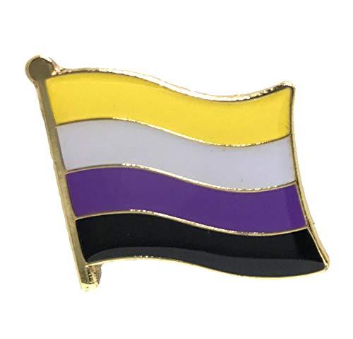 Gay & Lesbian Pride Rainbow LGBT LGBTQ Flag Lapel Pins (Non-Binary)
