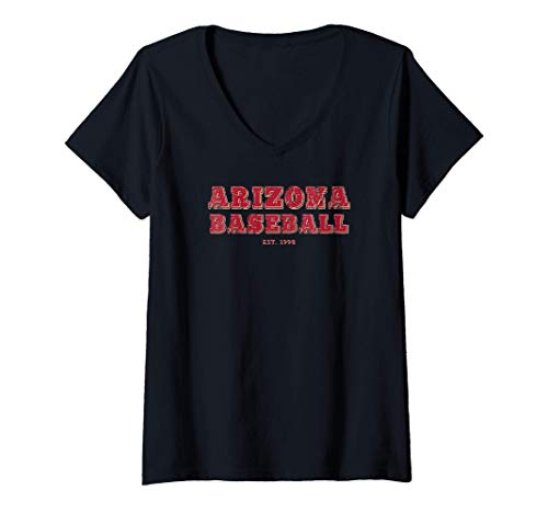 Womens Classic Arizona Baseball Fan Retro Vintage Jersey V-Neck T-Shirt