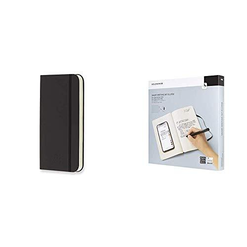 Moleskine Mobiles Ladegerät, schwarz + Smart Writing Set Ellipse (inkl. Pen+, Paper Tablet und Notes App) schwarz