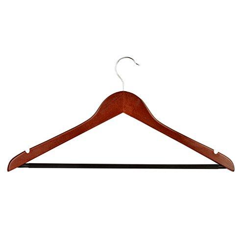 Honey-Can-Do No Slip Wooden Coat Hangers, Cherry Wood, 24-Pack