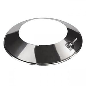 KJ32 KJ32 – Collar de tubería de acero inoxidable para estufa, revestimiento de humo, brida, conducto, cubierta redonda…
