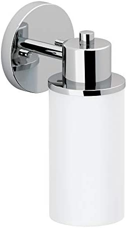Moen DN0761CH Iso 1 Light Dual Mount Bath Bathroom Vanity Fixture with Frosted Glass Chrome product image