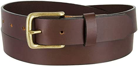 BS1050 32 Genuine Full Grain Leather Belt Casual Jean Belt 1 1 4 32mm Wide Made In USA Brown product image