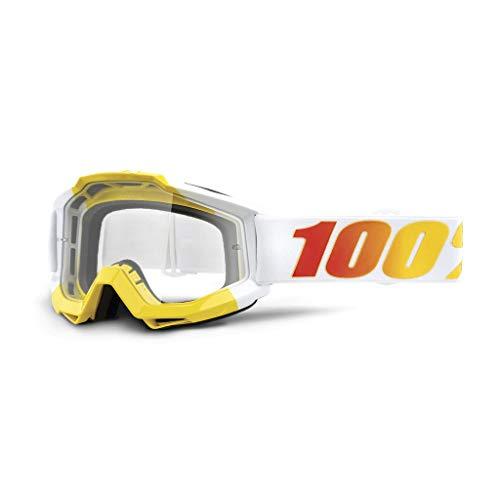 100% ACCURI Goggle Gafas de Sol Accesorios Deportivos, Adulto Unisex, Blanco (Astra-Clear...