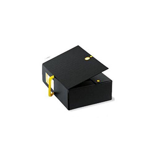 Sei Rota BIG NEXT, 200 box files made of Colpan kartonnen doos met PVC-coating, zwart