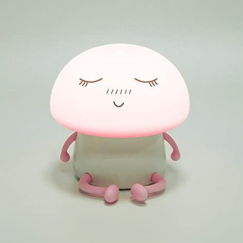 Mushroom Buddy - Luz LED de silicona para la noche con setas (rosa)