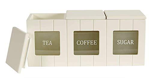 Simple & Traditional Secret Garden Vorratsdose, für Brot, Kekse, Tee, Kaffee und Zucker, cremefarben Tee-, Kaffee- und Zuckerdose