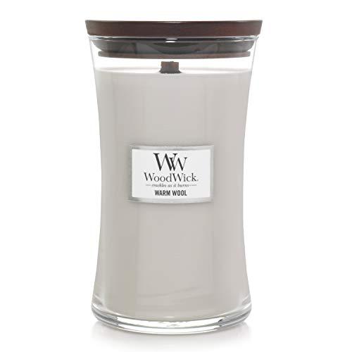 WoodWick 93052 Bougie Ovale Grande, Verre, Clair, 10,2 x 10,6 x 17,7 cm