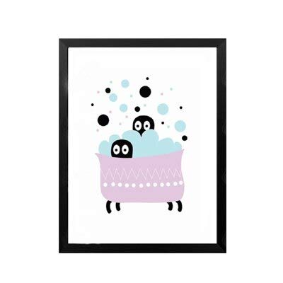 Cartoon Panda Ballon Einfache süße Tierkinder Schöne Hund Geschenk Leinwand Gemälde Wandkunst Bilder Poster Druck Schlafzimmer Wohnkultur 40 * 50cm