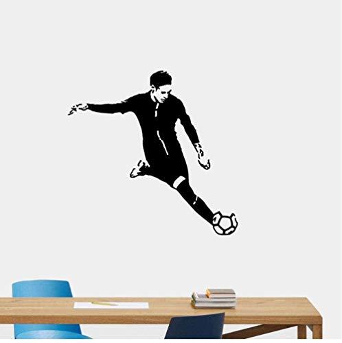 Muursticker wandklok wandklok 58,1 x 60 cm voetbal schattig kinderen Room PVC W2-022
