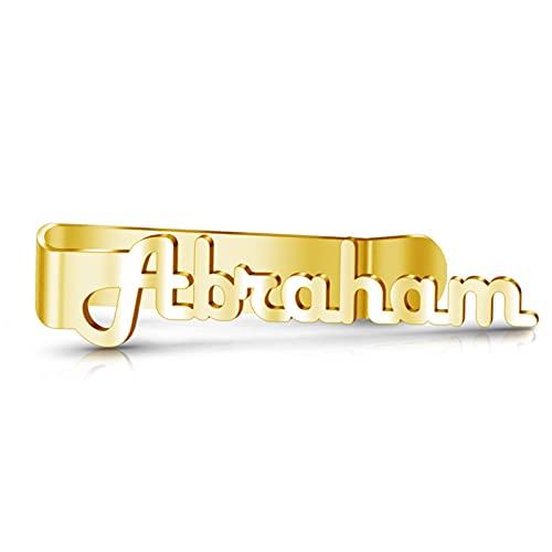 TinFrey Clip de Corbata Personalizado Nombre Grabado Personalizado Clip de Corbata de Acero Inoxidable Regalo del día del Padre de los Hombres