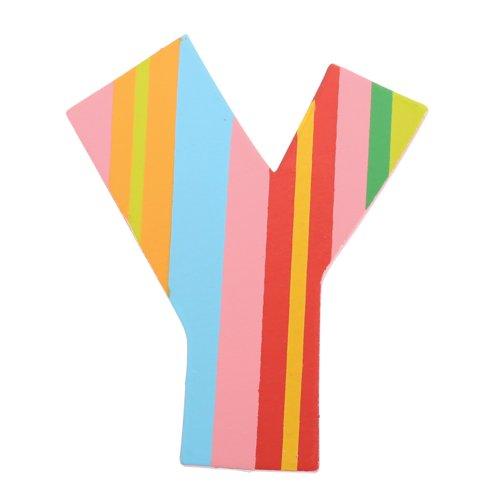 Tatiri Holzbuchstabe Punkte und Streifen Y (Streifen)