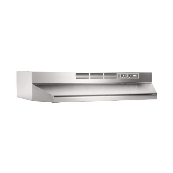 Broan-NuTone 412404 Non-Ducted Under-Cabinet Ductless Range Hood Insert, 24-Inch, Stainless Steel