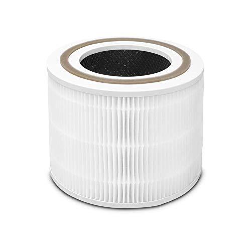 OUNEDA Filtro de repuesto para purificador de aire Levoit Core 300, prefiltro HEPA 3 en 1, grado H13, núcleo de filtro de...