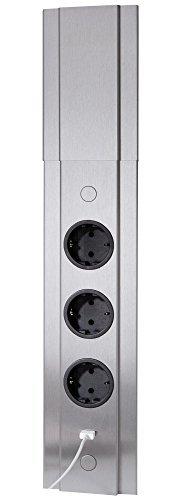 Telescópica 3capas de esquina/Cocina enchufe tolme 1x USB Port Acero Inoxidable * 559329