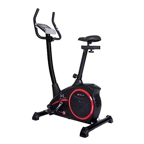 Christopeit Sport Heimtrainer AL 2 Black Edition - 24-Stufig, bis 150kg Gewicht, 9kg Magnet-Bremssystem, LCD-Display