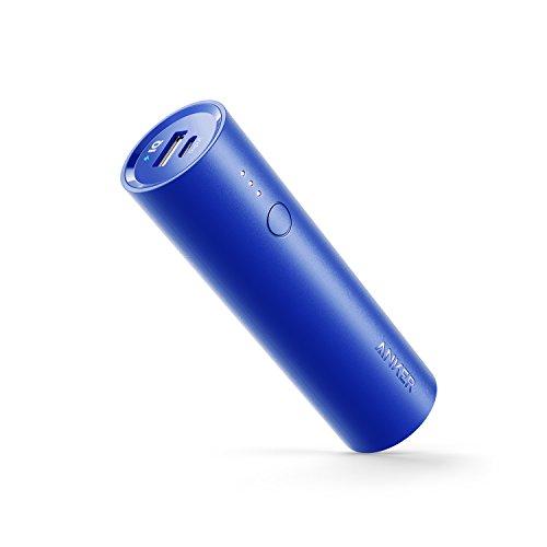 Anker PowerCore 5000mAh Externer Akku Powerbank Batterie Extra Kompakt Slim Handy Ladegerät mit Power IQ für iPhone XS Max/XR/XS/X / 8/8 Plus,iPad, Galaxy und Weitere Smartphone (Blau)