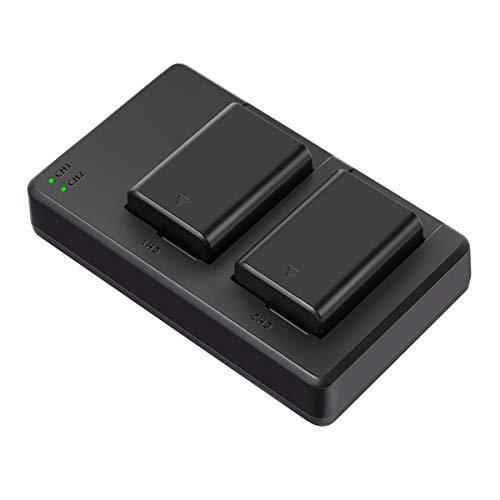 Soluser NP FW50 Akku für Sony Alpha7 / 7ii / 6500/6400/6300/6000 / 5100 NEX-7 NEX-6 NEX-F3 NEX-3 Nex-5 NEX-5N NEX-5T SLT A55V A33 A35 A37 usw, 2 x Ersatzakkus, 1100mAh, 2.0A USB-Input