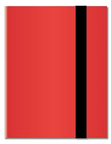Arkero-G® 18-Pocket Pro Album - Rot / Red - 360 Karten Binder - Tauschalbum / Sammelalbum z.B. für MTG Magic, Pokemon, YuGiOh, Match Attax, Lego Ninjago