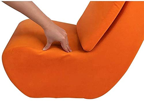Sofá suelo sillón, perezoso marco de acero esponja silla de respaldo alto, se puede llenar de niños y niñas de 3 años de edad,Orange
