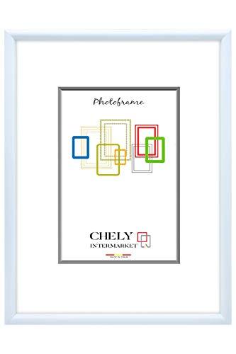 Chely Intermarket, Marco de Fotos 50x70 cm (Azul clarito) Grandes para Pared MOD-313. Decoración | Fotografías de Boda | Listado de Precio | Certificados universitarios(313-50x70-1,30)