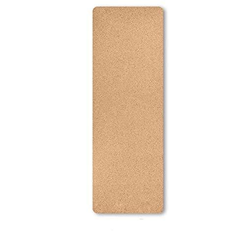 RWEAONT Diseño único Corcho Natural TPE Yoga Mat Matters Deportes Pilates Slim Aerobic Ejercicio Almohadillas Non-Slip Absorb Swat Olorless Mat 4mm (Color : None)