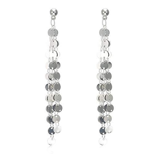 ERDING LX027 Elegant/sieraden/munten oorbellen kwast voor druppels hanger lange oorbellen goud sieraden dames 3207