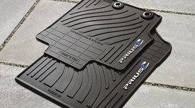 Genuine Toyota Accessories Front and Rear All-Weather Floor Mat (Black), Set of 4