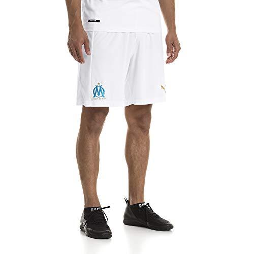 PUMA Herren Olympique de Marseille Replica ohne Inner Slip Hose, White-Bleu Azur, XL