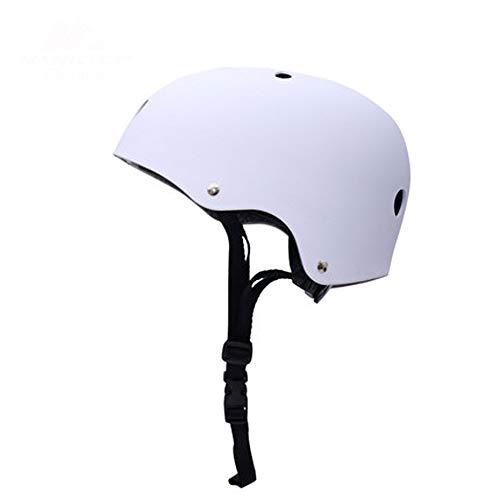 Crash Helm Roller Schaatsen Helm, Kinderen Volwassen Verstelbare Skateboarding Helm Beschermende Apparatuur Kleur: wit