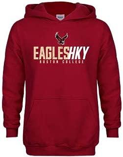 Boston College Youth Cardinal Fleece Hoodie 'Hockey Ice Texture'