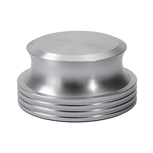 Dynavox Plattenspieler-Stabilizer PST420, Auflagegewicht aus Aluminium für Plattenspieler, Gewicht 420 g, Silber