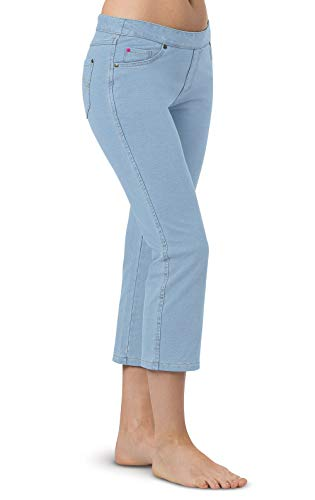 PajamaJeans Capri Jeans for Women - Womens Capris, Clearwater, S