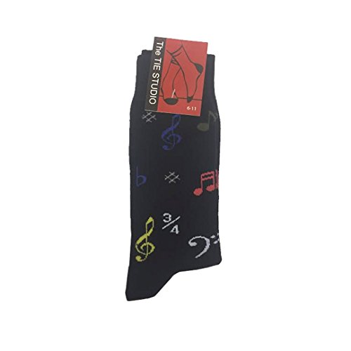 The Tie Studio: Musical Symbol Socks - Black (Size 6-11)