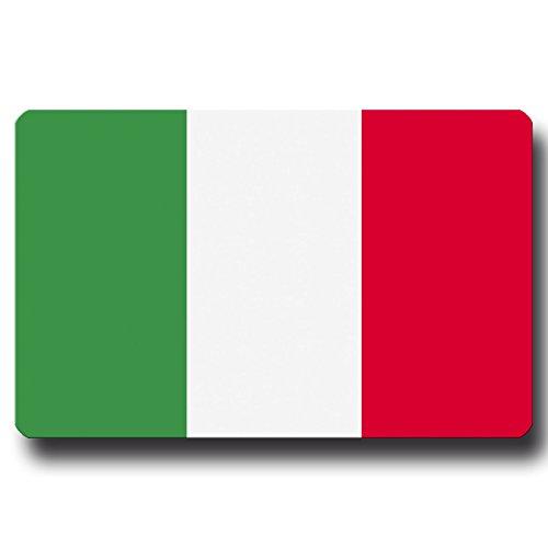 Kühlschrankmagnet Flagge Italien - 85x55 mm - Metall Magnet mit Motiv Länderflagge für Kühlschrank Reise Souvenir