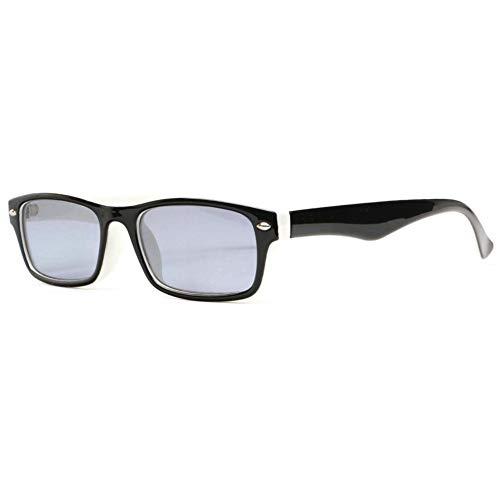 Sany - Gafas de lupa solar de color negro y blanco, clase y cómoda, unisex