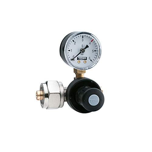 """CO2 Druckminderer für Mehrwegflaschen bis zu 5,5 bar EU Standard Norm Anschluss W21,8x1/14"""" + Schlauchanschluss 6 Anschluss für Sprudelanlagen Trinkwassersprudler , auch für Aquarium nutzung geeignet"""