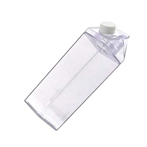 Cabilock Cartón de Leche Botella de Agua Caja de Leche Caja de Jugo de Plástico Jarra de Agua Botella Portátil 500 Ml para Bebidas Bebida Jugo