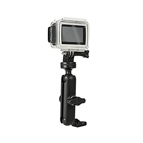 CX Soporte de la cámara de la bicicleta del soporte de la cámara del manillar del soporte del soporte del espejo 1/4 ajuste del soporte de metal para Gopro Hero8 / 7/6/5/4/3 + Acción Cámaras Accesorio