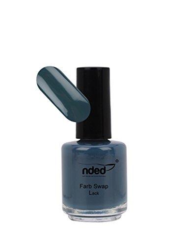 NDED Swap Nagellack - Exclusiver Swap Lack für Nägel - Metallic Farblack - Speziallack, Petrol to Dark Blue, blau, petrol, 15 ml, lufthärtend